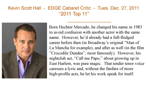 "Review from cabaret show ""Call Me Papo""..."